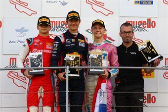 Podio Gara 3,Dennis Hauger (Van Amersfoort Racing BV,Tatuus F.4 T014 Abarth #62)Paul Aron (Prema Powerteam,Tatuus F.4 T014 Abarth #7)Joshua Durksen (BWT Mucke Motorsport,Tatuus F.4 T014 Abarth #26, ITALIAN F.4 CHAMPIONSHIP POWERED BY ABARTH