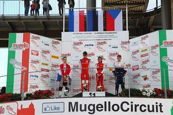 Podio Rookie gara 3, Paul Aron (Prema Powerteam,Tatuus F.4 T014 Abarth #7)Joshua Durksen (BWT Mucke Motorsport,Tatuus F.4 T014 Abarth #26)Roman Stanek (US Racing,Tatuus F.4 T014 Abarth #97), ITALIAN F.4 CHAMPIONSHIP POWERED BY ABARTH