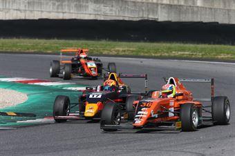 Jonny Edgar (Jenzer Motorsport,Tatuus F.4 T014 Abarth #17)fLorenzo Ferrari (Antonelli Motorsport,Tatuus F.4 T014 Abarth #36), ITALIAN F.4 CHAMPIONSHIP POWERED BY ABARTH