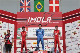 Podio gara 1, Igor Fraga (DR Formula,F3 Tatuus 318 A.R. #17)Olli Caldwell (Prema Powerteam,F3 Tatuus 318 A.R. #64) Frederik Vesti  (Prema Powerteam,F3 Tatuus 318 A.R. #2) , FORMULA REGIONAL EUROPEAN CHAMPIONSHIP