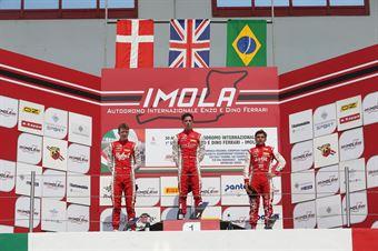 Podio Rookie gara 1, Olli Caldwell (Prema Powerteam,F3 Tatuus 318 A.R. #64) Frederik Vesti  (Prema Powerteam,F3 Tatuus 318 A.R. #2) Enzo Fittipaldi (Prema Powerteam,F3 Tatuus 318 A.R. #74), FORMULA REGIONAL EUROPEAN CHAMPIONSHIP