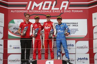 Podio gara 2, Frederik Vesti  (Prema Powerteam,F3 Tatuus 318 A.R. #2)Olli Caldwell (Prema Powerteam,F3 Tatuus 318 A.R. #64)Igor Fraga (DR Formula,F3 Tatuus 318 A.R. #17), FORMULA REGIONAL EUROPEAN CHAMPIONSHIP