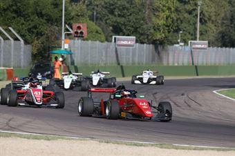 Isac Blomqvist (Kic Motorsport,F3 Tatuus 318 A.R. #46) Beckhäuser (Technorace A.S.D,F3 Tatuus 318 A.R.#95), FORMULA REGIONAL EUROPEAN CHAMPIONSHIP