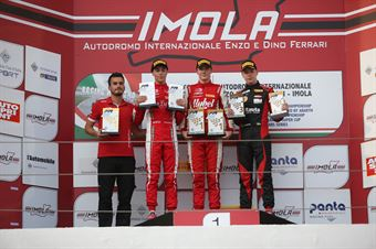 Podio gara recupero Frederik Vesti  (Prema Powerteam,F3 Tatuus 318 A.R. #2)Olli Caldwell (Prema Powerteam,F3 Tatuus 318 A.R. #64)Isac Blomqvist (Kic Motorsport,F3 Tatuus 318 A.R. #46), FORMULA REGIONAL EUROPEAN CHAMPIONSHIP