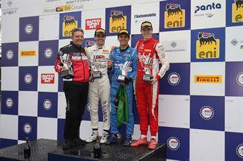 Podio gara 2 Igor Fraga (DR Formula,F3 Tatuus 318 A.R. #17)Raul Guzman (DR Formula,F3 Tatuus 318 A.R. #41)Frederik Vesti  (Prema Powerteam,F3 Tatuus 318 A.R. #2), FORMULA REGIONAL EUROPEAN CHAMPIONSHIP
