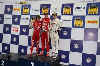 Podio Rookie gara 3 Frederik Vesti  (Prema Powerteam,F3 Tatuus 318 A.R. #2)Enzo Fittipaldi (Prema Powerteam,F3 Tatuus 318 A.R. #74)Raul Guzman (DR Formula,F3 Tatuus 318 A.R. #41), FORMULA REGIONAL EUROPEAN CHAMPIONSHIP