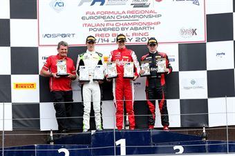 Podio gara 2 Frederik Vesti  (Prema Powerteam,F3 Tatuus 318 A.R. #2)David Schumacher (US Racing,F3 Tatuus 318 A.R.#27)Konsta Lappalainen (Kic Motorsport,F3 Tatuus 318 A.R. #10), FORMULA REGIONAL EUROPEAN CHAMPIONSHIP