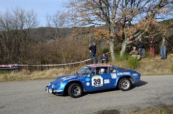 Capsoni Luigi,Masin Denis(Alpine A110,Team Bassano,#39), CAMPIONATO ITALIANO RALLY AUTO STORICHE
