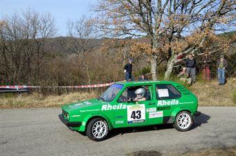 Pierucci Fabrizio,Sammichele Francesco(VW Golf,Pistoia Corse,#43), CAMPIONATO ITALIANO RALLY AUTO STORICHE