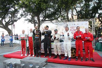 Podio dei Vincitori dei 4 raggruppamenti, CAMPIONATO ITALIANO RALLY AUTO STORICHE