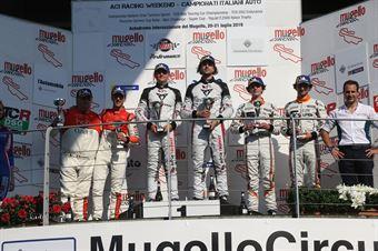 Podio gara 2. Altoè Altoé (Scuderia del Girasole,Cupra TCR DSG #63)Dionisio Barri (BF Motorsport,Audi RS3 LMS TCR DSG #8)Sciaguato Sciaguato  (BD Racing,Cupra TCR DSG #31), TCR DSG ENDURANCE