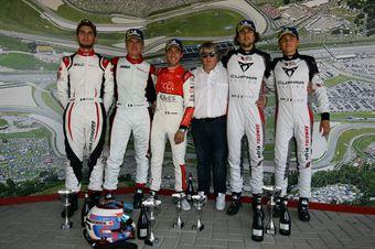 Podio Qualyfing race, Dionisio Barri (BF Motorsport,Audi RS3 LMS TCR DSG #8) Pelatti Volpato (Scuderia del Girasole,Audi RS3 LMS TCR DSG #7) Altoè Altoé (Scuderia del Girasole,Cupra TCR DSG #63), TCR DSG ENDURANCE