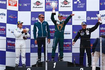 Podio gara 2 Matteo Greco (Sc. del Girasole   Cupra Racing,Cupra TCR SEQ #34) Eric Scalvini (Sc. del Girasole   Cupra Racing,Cupra TCR DSG #19) Massimiliano Mugelli (PRS Group,Alfa Romeo Giulietta QV TCR #3), TCR ITALY TOURING CAR CHAMPIONSHIP