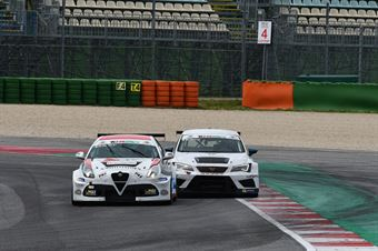 Massimiliano Mugelli (PRS Group,Alfa Romeo Giulietta QV TCR #3) Matteo Greco (Sc. del Girasole   Cupra Racing,Cupra TCR SEQ #34), TCR ITALY TOURING CAR CHAMPIONSHIP