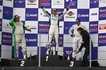 Podio gara 1, Marco Pellegrini Anatrella (Target Competition,Hyundai i30 N TCR #67) Enrico Bettera (Pit Lane Competizioni,Audi RS3 LMS SEQ #69) Eric Scalvini (Sc. del Girasole   Cupra Racing,Cupra TCR DSG #19), TCR ITALY TOURING CAR CHAMPIONSHIP