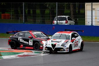 Massimiliano Mugelli (PRS Group,Alfa Romeo Giulietta QV TCR #3)Sandro Pelatti (Girasole,Audi RS3 LMS TCR DSG #7), TCR ITALY TOURING CAR CHAMPIONSHIP