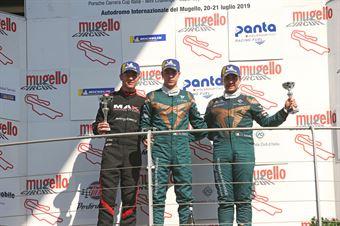 Gara 1, Matteo Greco (Sc. del Girasole   Cupra Racing,Cupra TCR SEQ #34) Jacopo Guidetti (BF Motorsport,Audi RS3 LMS SEQ TCR DSG#71) Eric Scalvini (Sc. del Girasole   Cupra Racing,Cupra TCR DSG #19), TCR ITALY TOURING CAR CHAMPIONSHIP