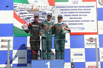 Podio Rookie gara 1 Matteo Greco (Sc. del Girasole   Cupra Racing,Cupra TCR SEQ #34) Jacopo Guidetti (BF Motorsport,Audi RS3 LMS SEQ TCR DSG#71) Eric Scalvini (Sc. del Girasole   Cupra Racing,Cupra TCR DSG #19), TCR ITALY TOURING CAR CHAMPIONSHIP
