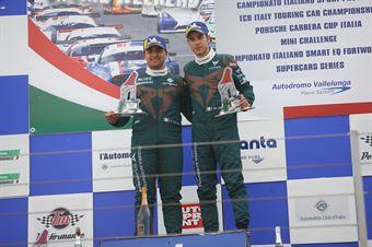 Podio Rookie gara 2 Eric Scalvini (Sc. del Girasole   Cupra Racing,Cupra TCR DSG #19) Matteo Greco (Sc. del Girasole   Cupra Racing,Cupra TCR SEQ #34), TCR ITALY TOURING CAR CHAMPIONSHIP