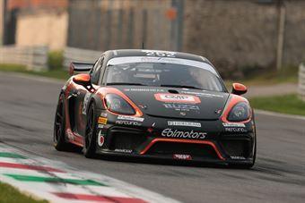 Marchi Andrea Di Giusto Mattia De Amicis Alberto, Porsche 718 Cayman Gt4 #252, Ebimotors, ITALIAN GRAN TURISMO CHAMPIONSHIP