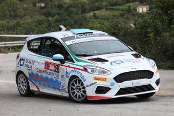 Mazzocchi Andrea Gallotti Silvia, Ford Fiesta R2B #21, Leonessa Corse, CAMPIONATO ITALIANO RALLY