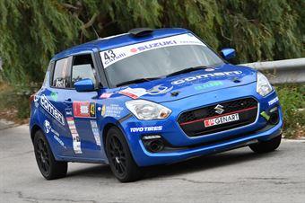 Rivia Simone Dresti Andrea, Suzuki Swift 1.6 R1 #43, Novara Corse, CAMPIONATO ITALIANO RALLY