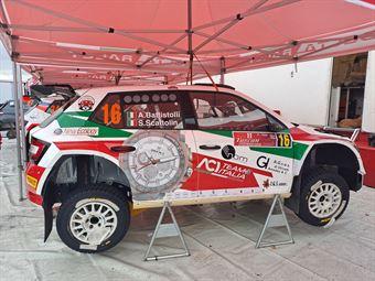 Alberto Battistolli Simone Scattolin, Skoda Fabia R5, #16, CAMPIONATO ITALIANO RALLY