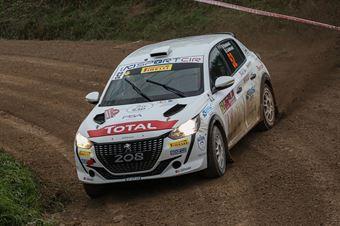 Paolo Andreucci Anna Andreussi, Peugeot 208 R2C #52, FPF Sport, CAMPIONATO ITALIANO RALLY