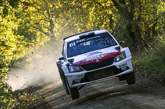 Emil Lindholm Mikael Korhonen, Skoda Fabia R5 #12, Gass Racing, CAMPIONATO ITALIANO RALLY