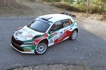 Alberto Battistolli Simone Scattolin, Skoda Fabis R5#23, CAMPIONATO ITALIANO RALLY