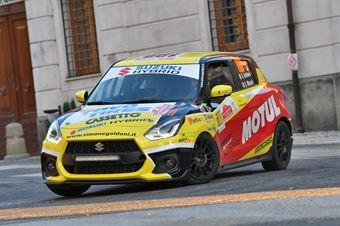 Simone Goldoni E.Macori, Suzuki Swift R1 #100, ITALIAN RALLY CHAMPIONSHIP