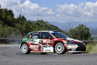 Emil Lindholm Mikael Korhonen, Skoda Fabia R5 #21, ITALIAN RALLY CHAMPIONSHIP