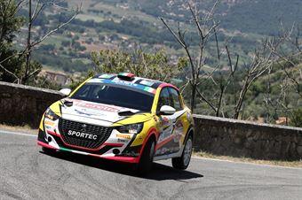 Rachele Somaschini Giulia Zanchetta, Peugeot 208 R4 #57, CAMPIONATO ITALIANO RALLY