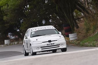 Filippo Cardillo ( CAtania Corse , Peugeot 106 #101), CAMPIONATO ITALIANO VELOCITÀ MONTAGNA