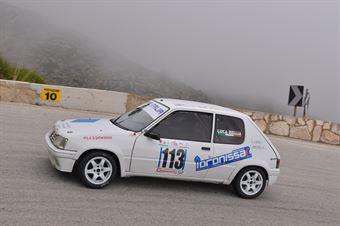 Luca Bellia ( Motor Team Nisseno , Peugeot 205 #113), CAMPIONATO ITALIANO VELOCITÀ MONTAGNA