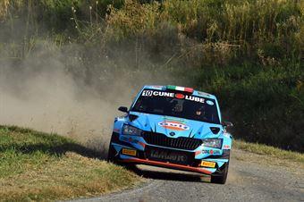 Alessandro Gino; Nicolo' Gonella (Skoda Fabia R5), CAMPIONATO ITALIANO WRC