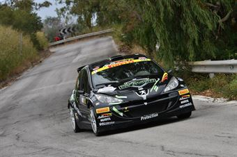 Rosso Davide Giuseppe Rollo Giovanni, Peugeot 207 S2000 #105, COPPA RALLY DI ZONA