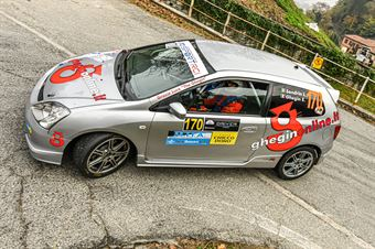 Luca Sandrin Elisa Ghegin, Honda Civic #70, COPPA RALLY DI ZONA