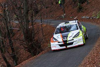 Roberto Lombardo Andrea Domenico Spano, Peugeot 207 S2000 #34, Motor Team Nisseno, COPPA RALLY DI ZONA