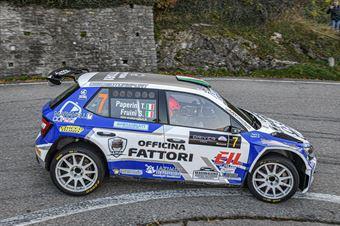 Thomas Paperini Simone Fruini, Skoda Fabia R5 #7, Maranello Corse, COPPA RALLY DI ZONA