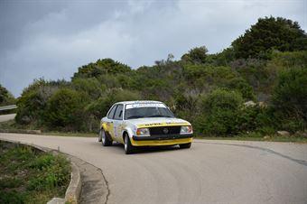 Questi Giacomo ,Morina Giovanni(Opel Ascona,Team Bassano,#21), CAMPIONATO ITALIANO RALLY AUTO STORICHE