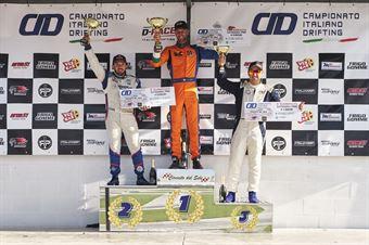 Premiazione classifica finale cat PRO: 1. Alberto Cona 2. Salvatore Pignanelli 3. Alberto Meregalli, CAMPIONATO ITALIANO DRIFTING
