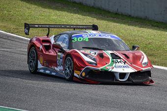 Chistian Brunsborg, Ferrari 488 Challenge Evo GT CUP #304, AF Corse, CAMPIONATO ITALIANO GRAN TURISMO