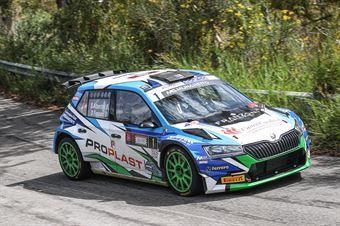Stefano Albertini, Danilo Fappani (Skoda Fabia Evo R5 #1, Bs Sport Srl), CAMPIONATO ITALIANO RALLY SPARCO