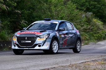 Nicola Cazzaro, Giovanni Brunaporto (Peugeot 208 Rally 4 R2C #32, Scuderia Palladio S.S.D.), CAMPIONATO ITALIANO RALLY SPARCO