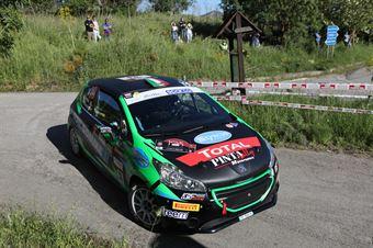 Fabio Farina, Gabriele Zanni (Peugeot 208 R2B #33, Pintarally Motorsport A.s.d.), CAMPIONATO ITALIANO RALLY SPARCO