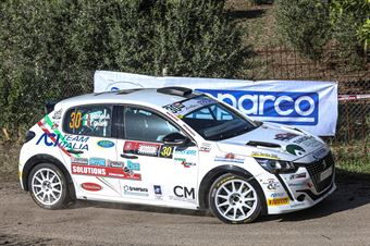 Lucchesi Jr, Titti Ghilardi (Peugeot 208 Rally 4 R2C #30, Hp Sport Srl), CAMPIONATO ITALIANO RALLY SPARCO