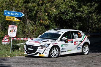 LUCCHESI JR GHILARDI TITTI, PEUGEOT 208 RALLY 4 #22, CAMPIONATO ITALIANO RALLY SPARCO