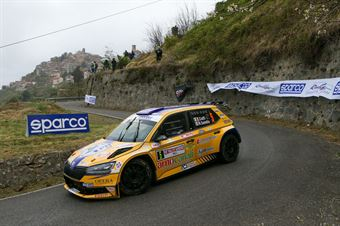 Tommaso Ciuffi, Nicolò Gonnella (Skoda Fabia R5 EVO #5, SQUADRA CORSE ANGELO CAFFI A.S.D), 68° Rallye Sanremo, CAMPIONATO ITALIANO RALLY SPARCO