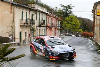 Andrea Crugnola. Pietro Ometto (Hyundai i20 #7), 68° Rallye Sanremo, CAMPIONATO ITALIANO RALLY SPARCO